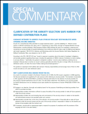 Clarification of the Annuity Selection