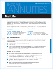 Income Annuity Overview